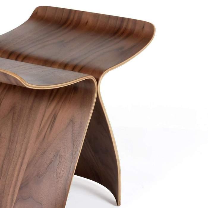 Butterfly stool walnut