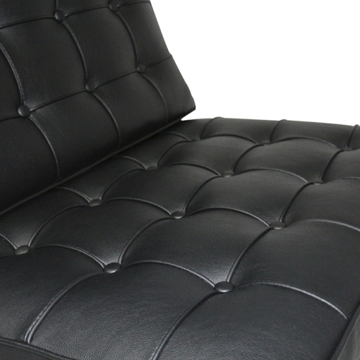 Barcelona black leather