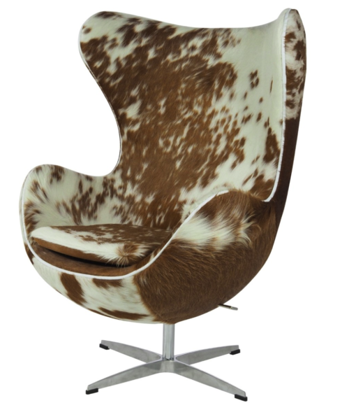 egg chair cowhide