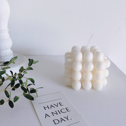 Scented handmade candle stick stack